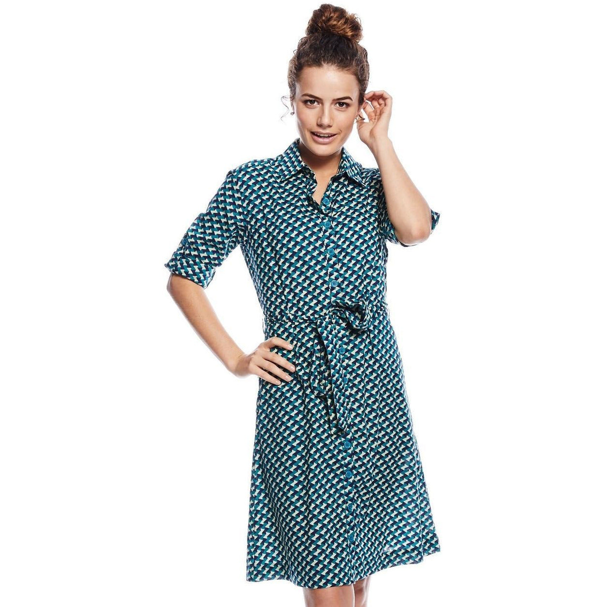 MahaShe Savanna Shirt dress in Badu  print