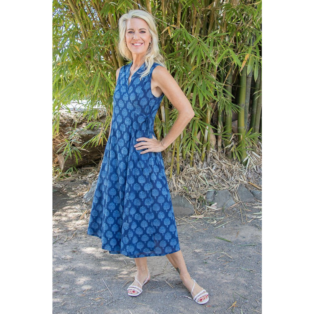 Soulsong Mandalay Dress in Indigo Lotus