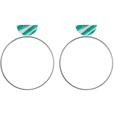 Moe Moe Design Hero Kate Mayes Moon Ring Stud Earrings