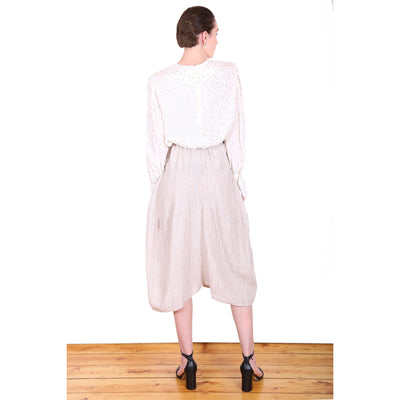 Olga de Polga Milwaukee Harbour Linen Skirt in Beige
