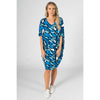 PQ COLLECTION Miracle Dress in Ocean Reef Print