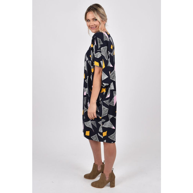 PQ COLLECTION Miracle Dress in Night Sky Print