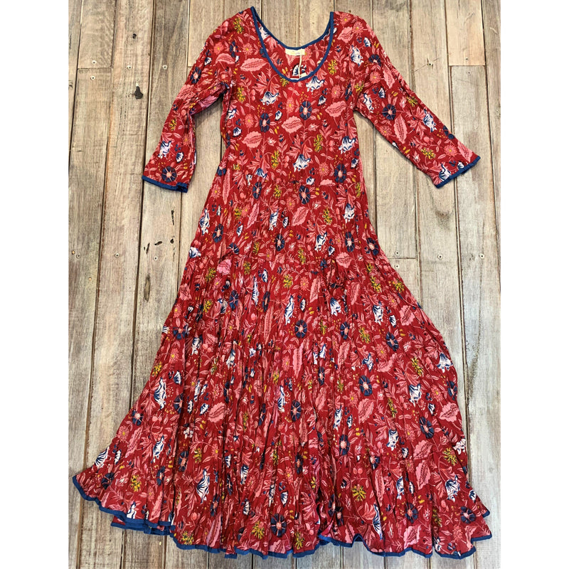 Soulsong Flamenco Dress with Sleeves in Moulin Rouge Print
