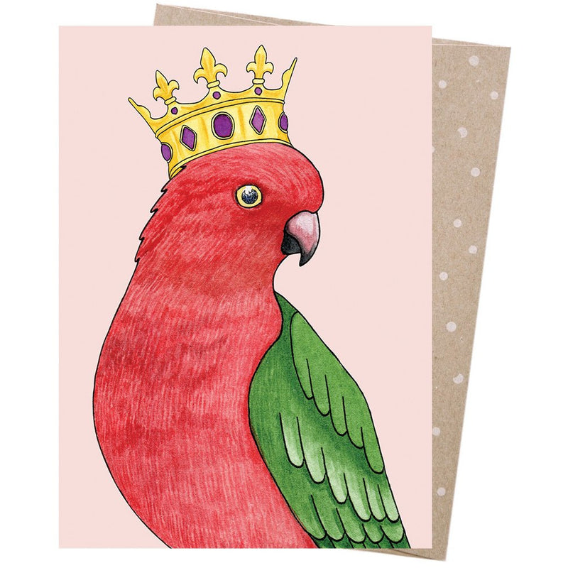 Earth Greetings Card Crowned Parrot