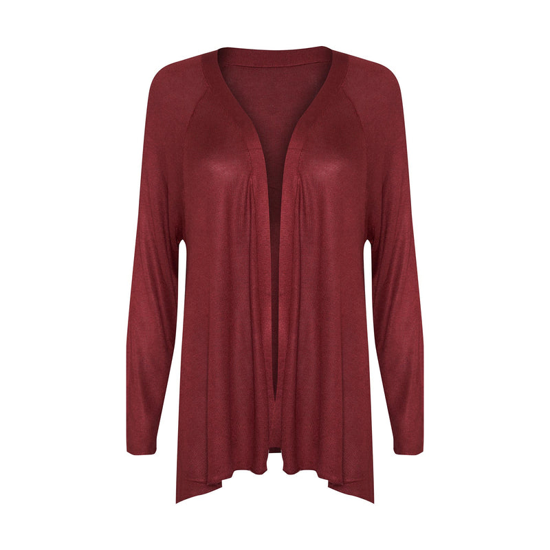 Lou Lou Australia Bamboo Patsy Cashmere Jacket in Wine