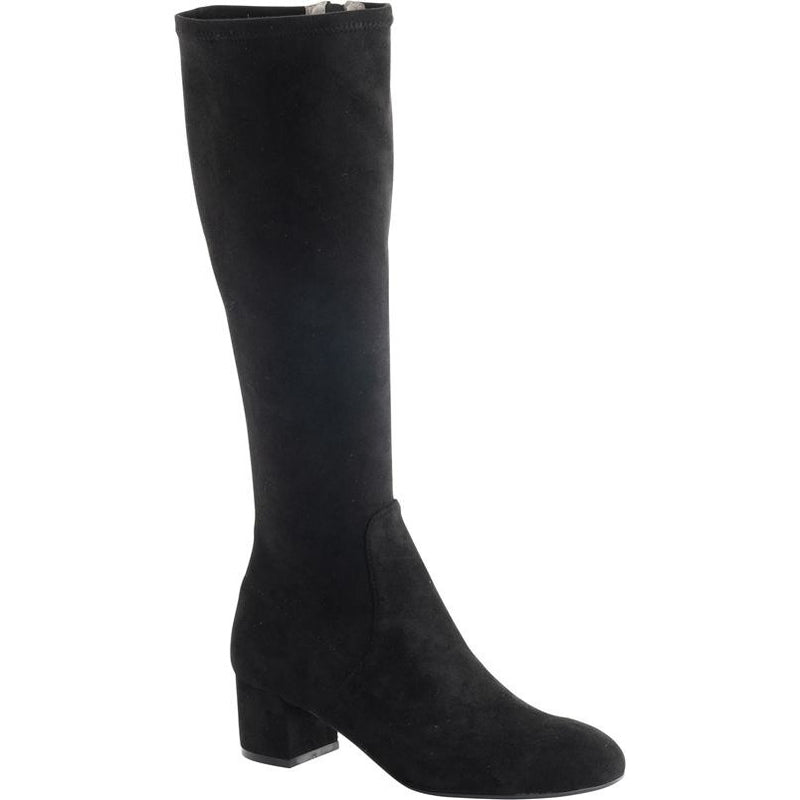 Isabella Peniche Suede Long boot in Black MAY DELIVERY