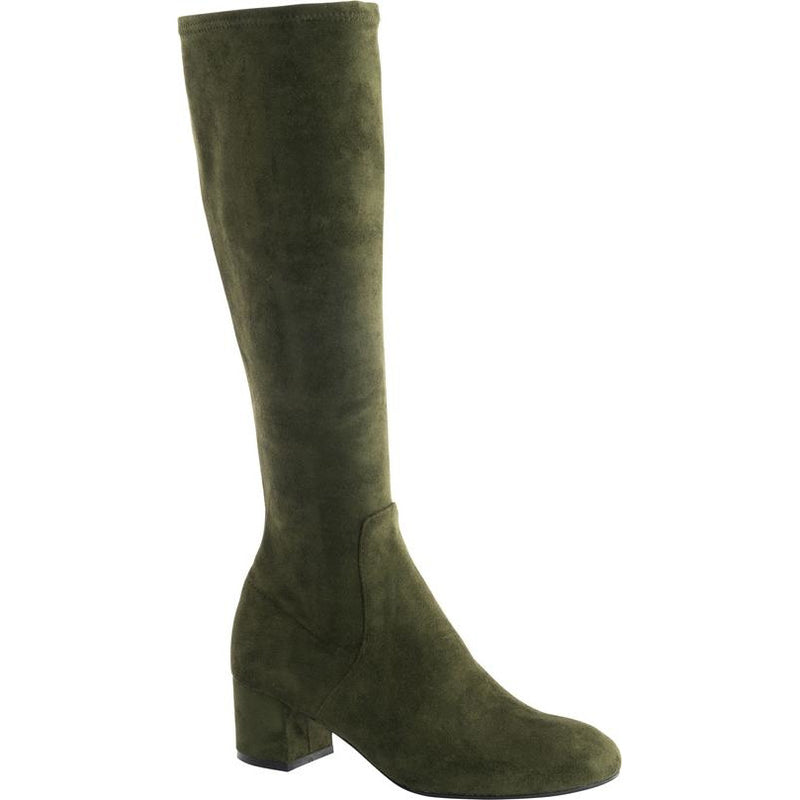 Isabella Peniche Suede Long boot in Green MAY DELIVERY