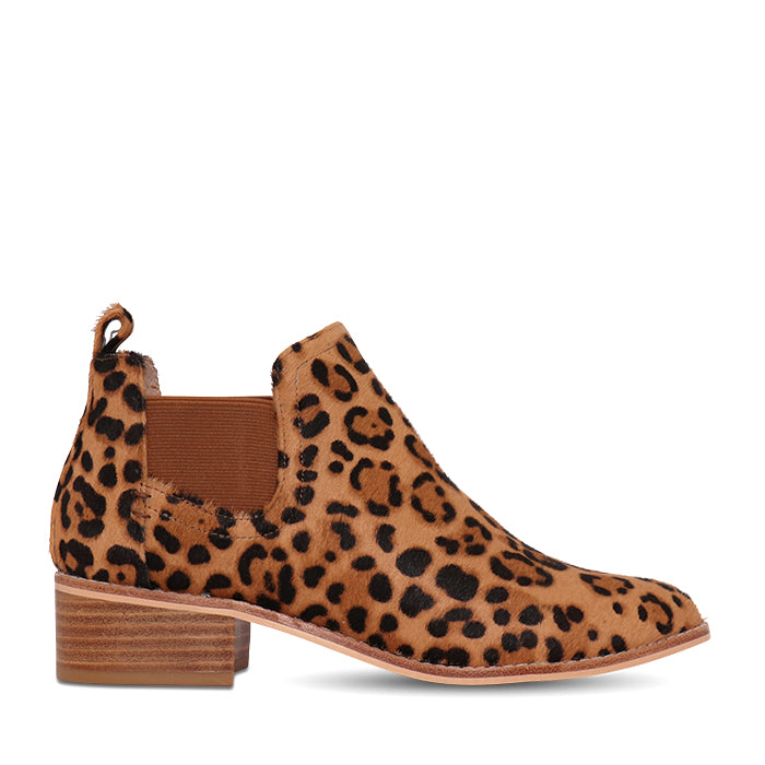 Nude Footwear Rumer Ankle Boot in Leopard Pony