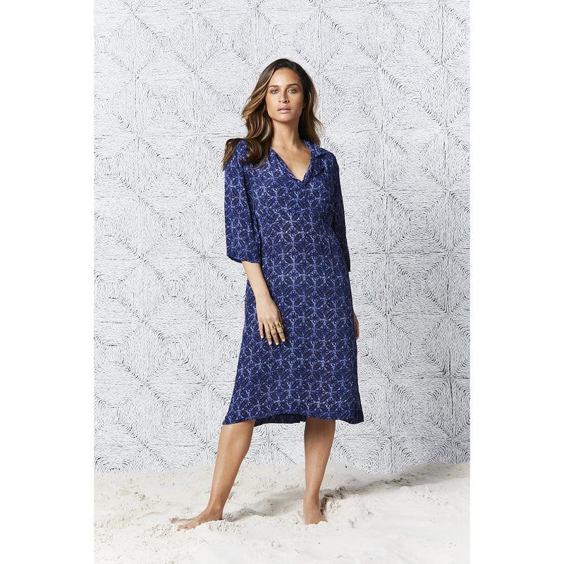 oneseason Jazz Viscose Dress in Crete print