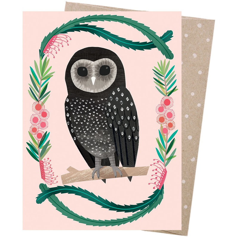 Earth Greetings Card Sooty Owl