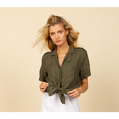 The Shanty Corp Mellah Top in Jungle Green