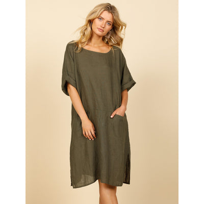 Shanty Morico Dress in Jungle Green