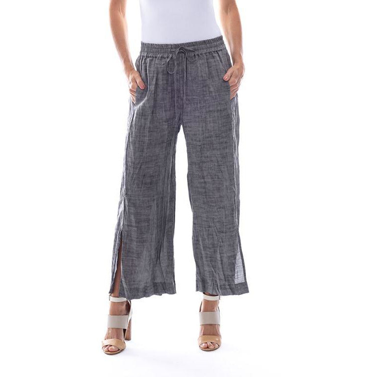 Sequel by Cafe Latte pant in Charcoal Plain