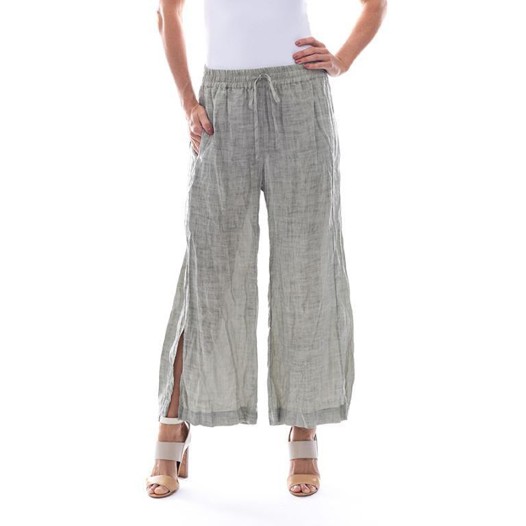 Sequel by Cafe Latte pant in Khaki Plain