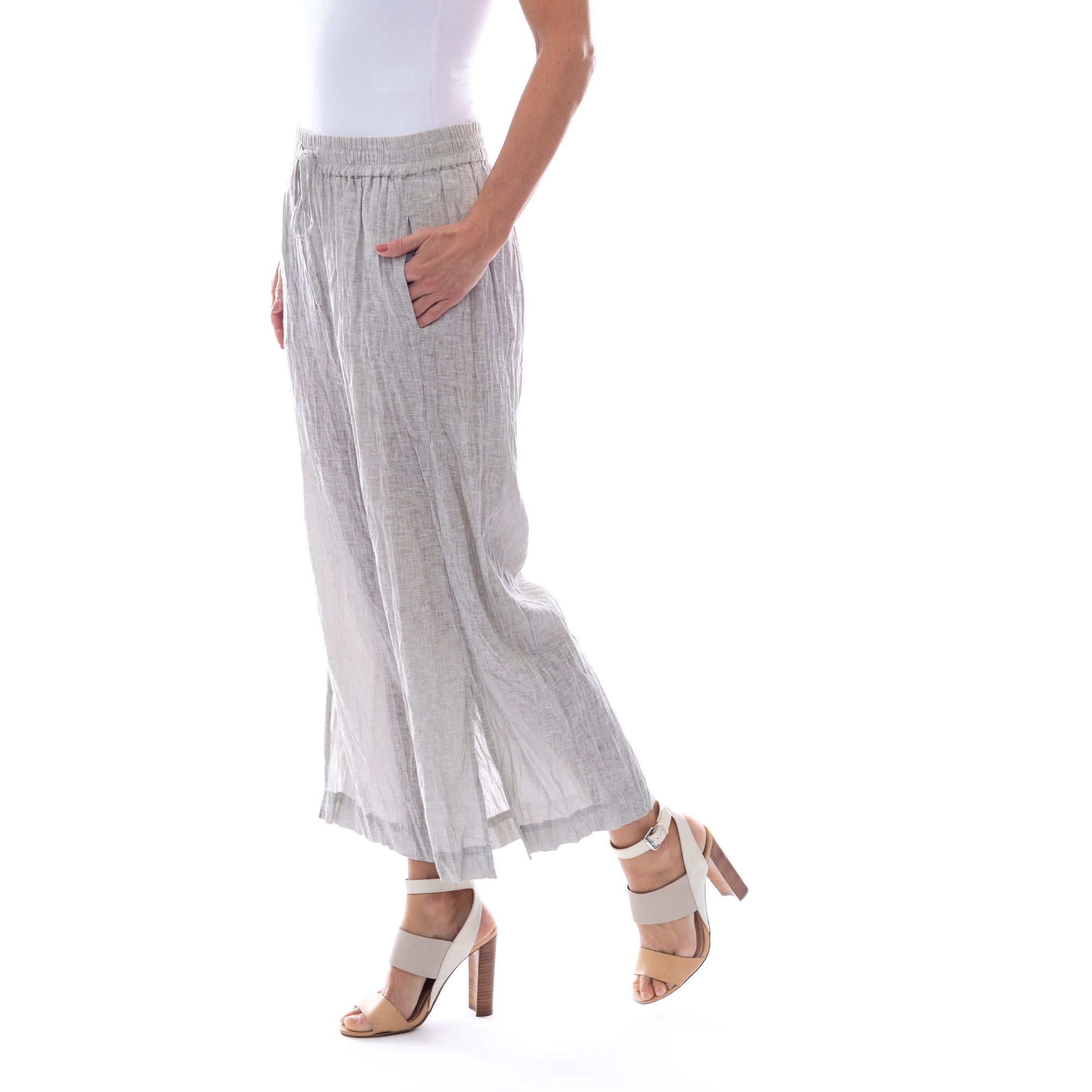 Sequel by Cafe Latte pant in Natural Plain