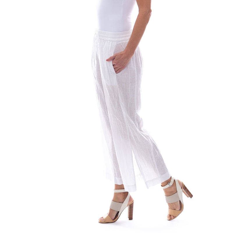 Sequel by Cafe Latte pant in White Plain