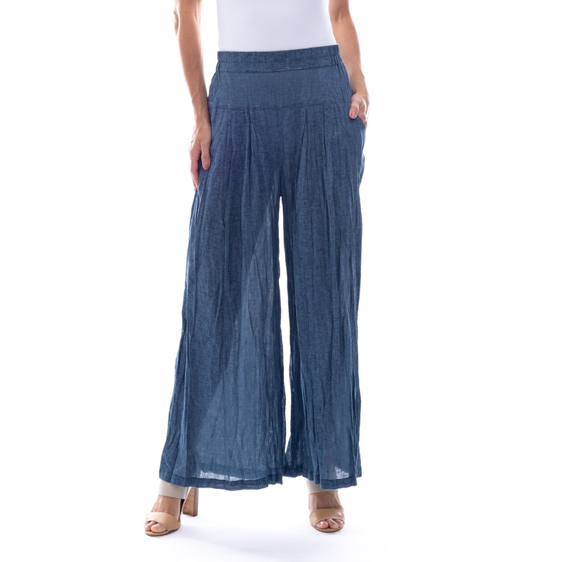 Sequel by Cafe Latte full length pant in Indigo Plain