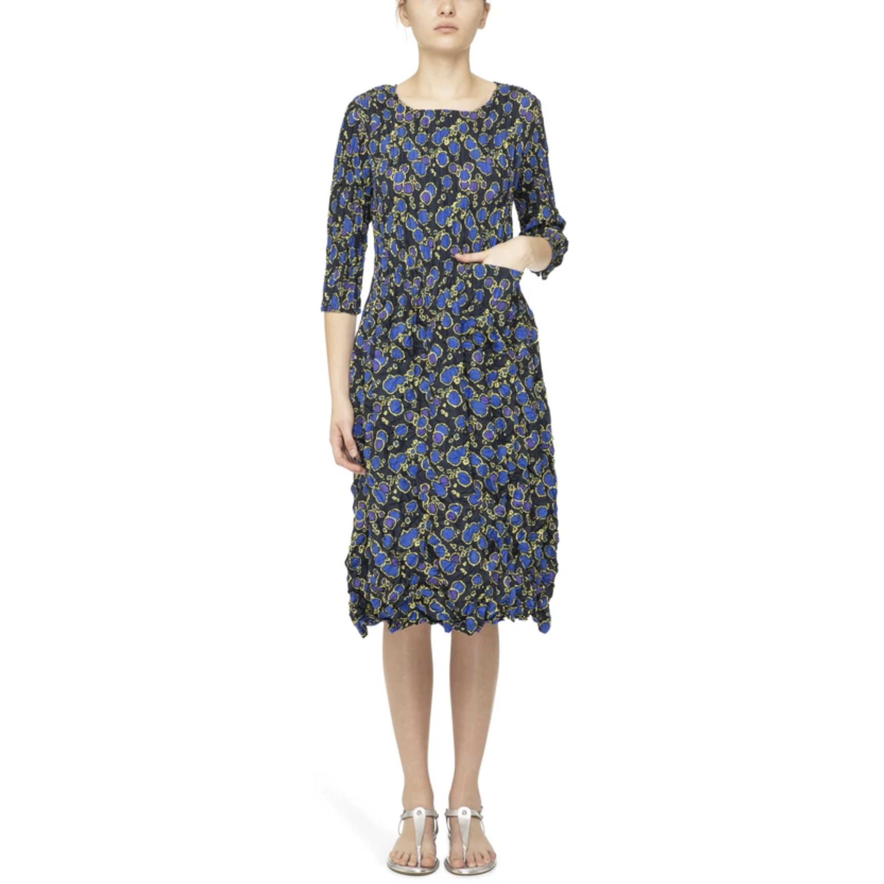 Alquema Three quarter sleeve Smash Dress in Atom Print
