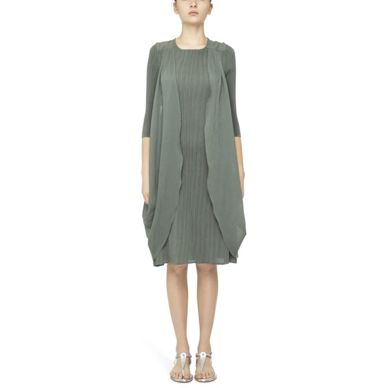 Alquema Back Detail Dress in Sage