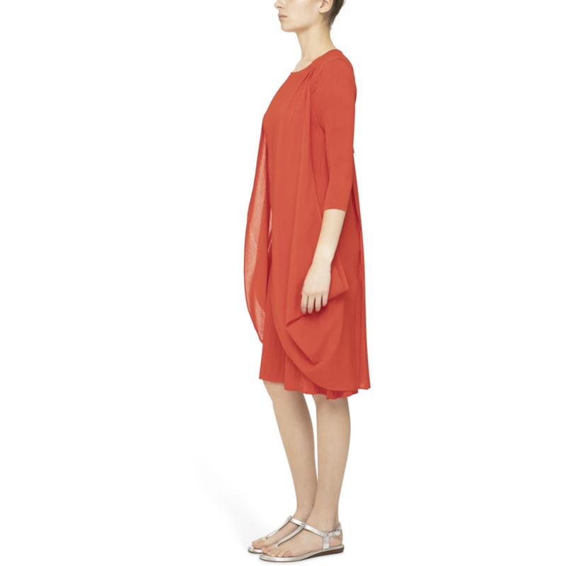 Alquema Back Detail Dress in Tangerine