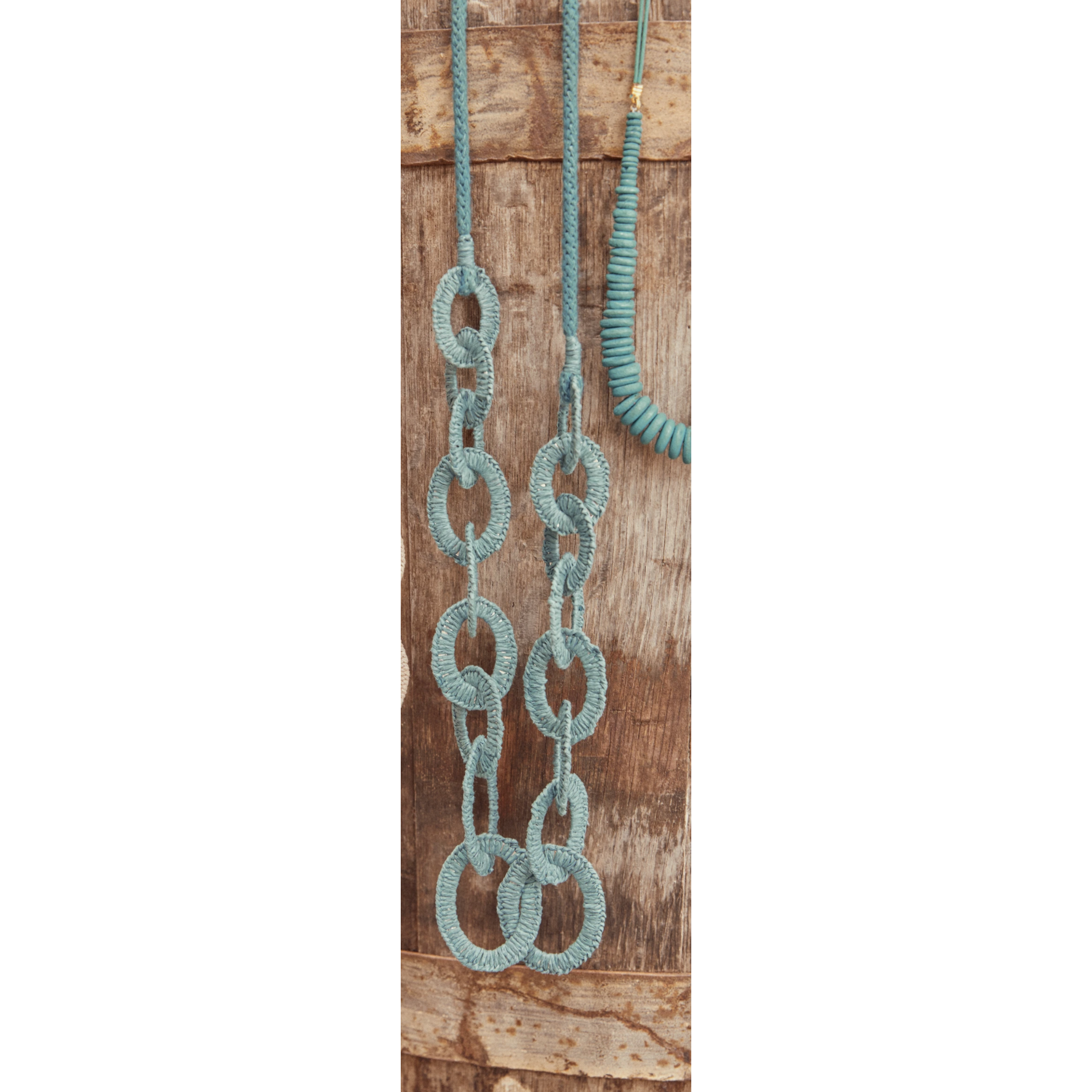 eb&ive Ohana Line Necklace in Teal