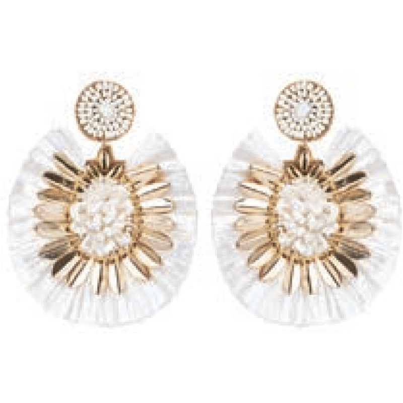 eb&ive Serengeti Fringe Earrings in Ivory