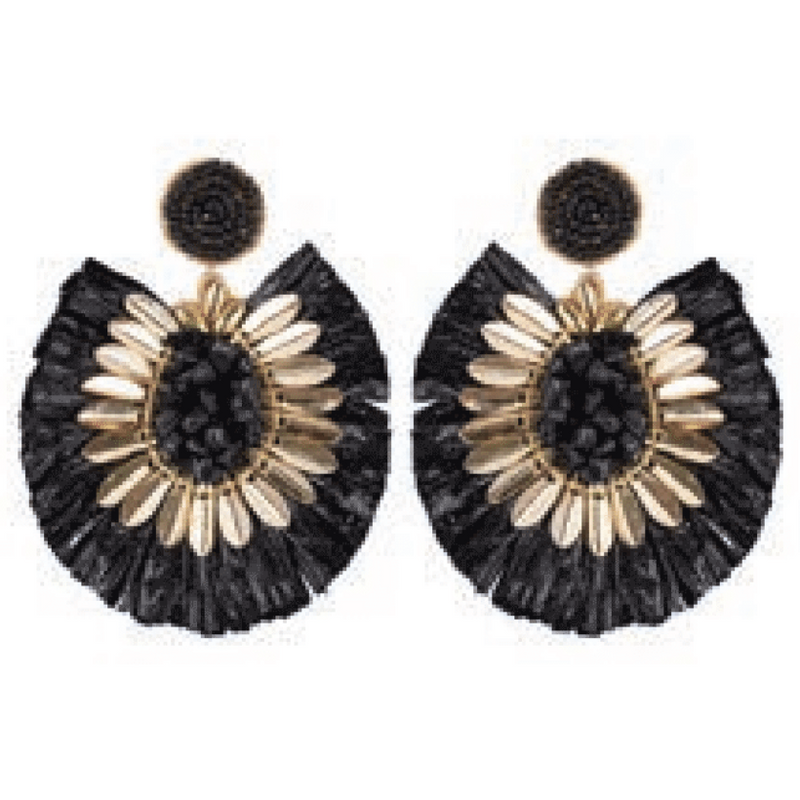 eb&ive Serengeti Fringe Earrings in Black