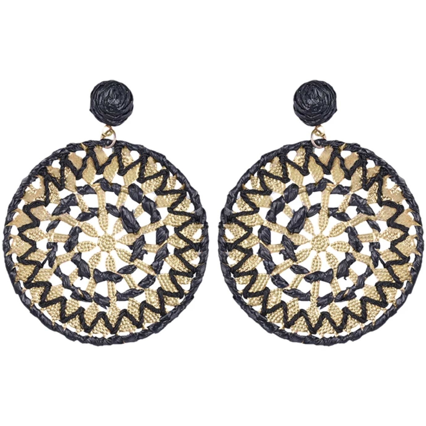 eb&ive Masai Circular Earrings in Black