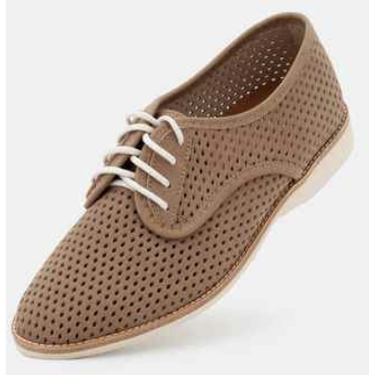 Rollie Derby Punch Sand Leather Shoe
