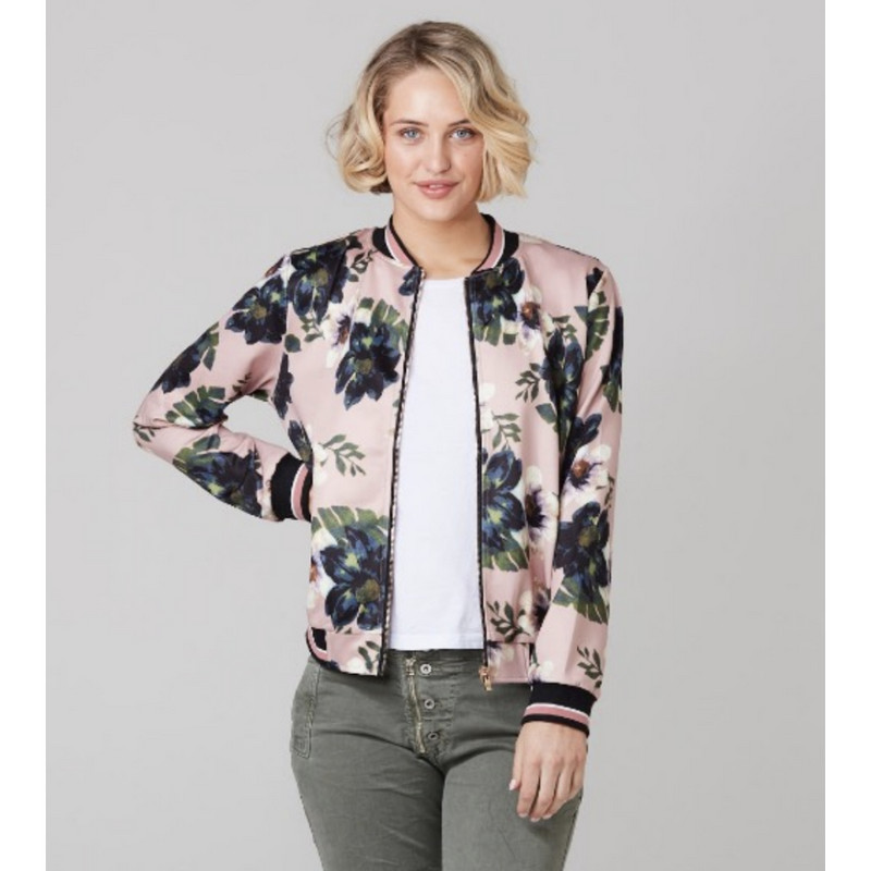 365 Days Cute Bomber Jacket in Pink