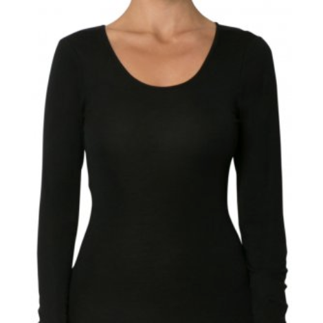 Baselayers Pure Wool Long sleeve Scoop neck top
