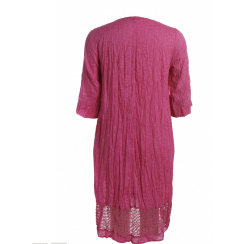 Sequel by Cafe Latte Dress in Raspberry Plain