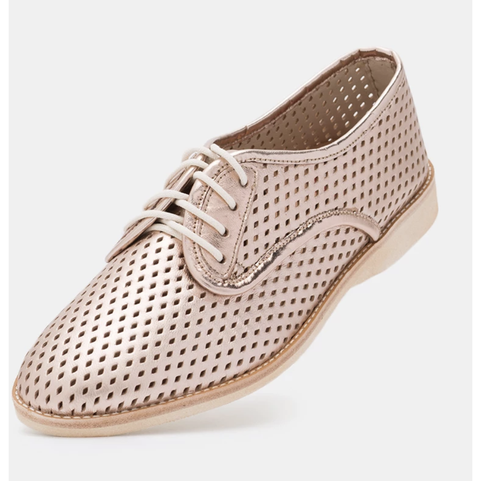 Rollie Derby Punch Rose Gold Shoe