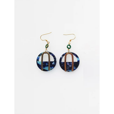 Middle Child Jewellery Portside Earrings Navy