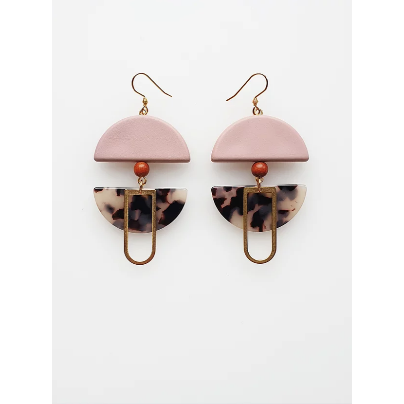 Middle Child Jewellery Helm Earrings Pink