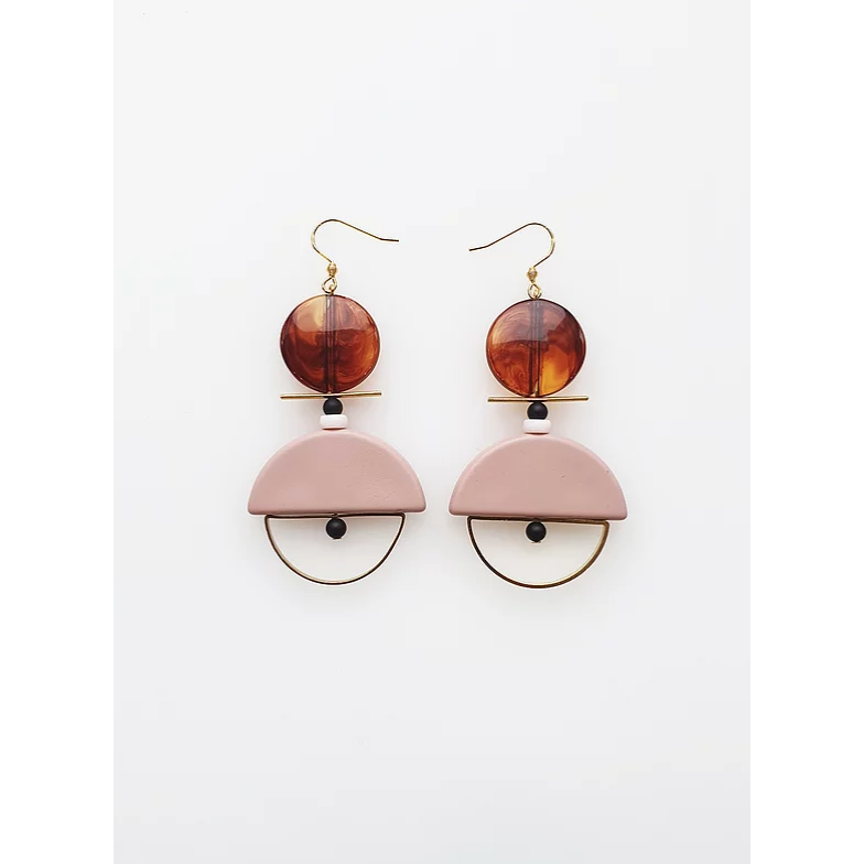 Middle Child Jewellery Diego Earrings Pink