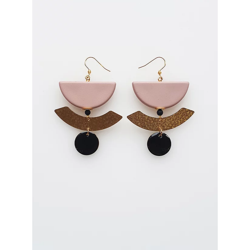 Middle Child Jewellery Nightfall Earrings Pink