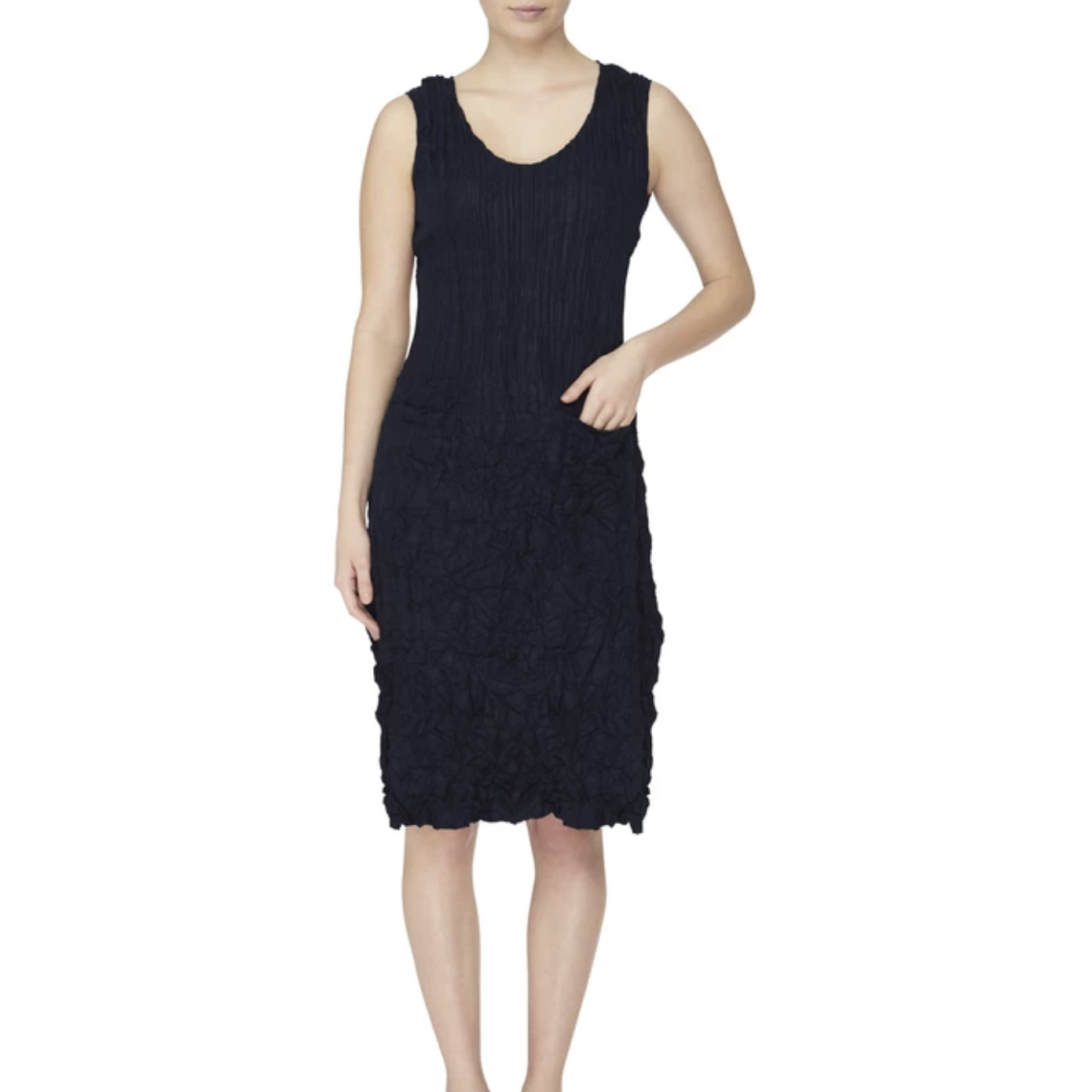 Alquema Sleeveless New Pocket Dress in French Navy