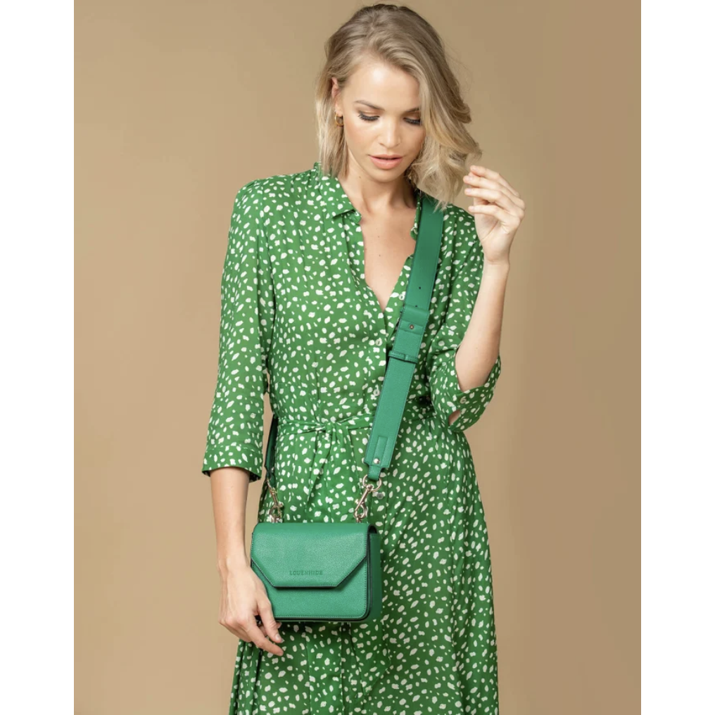 Louenhide Roma Green Crossbody Handbag