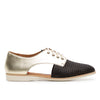 Rollie Sidecut Punch Black/Light Gold Leather Shoe