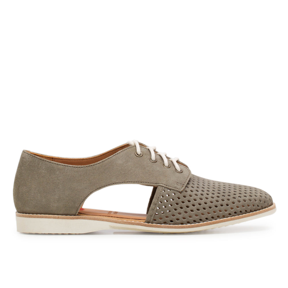 Rollie Sidecut Punch Khaki Wash Leather Shoe