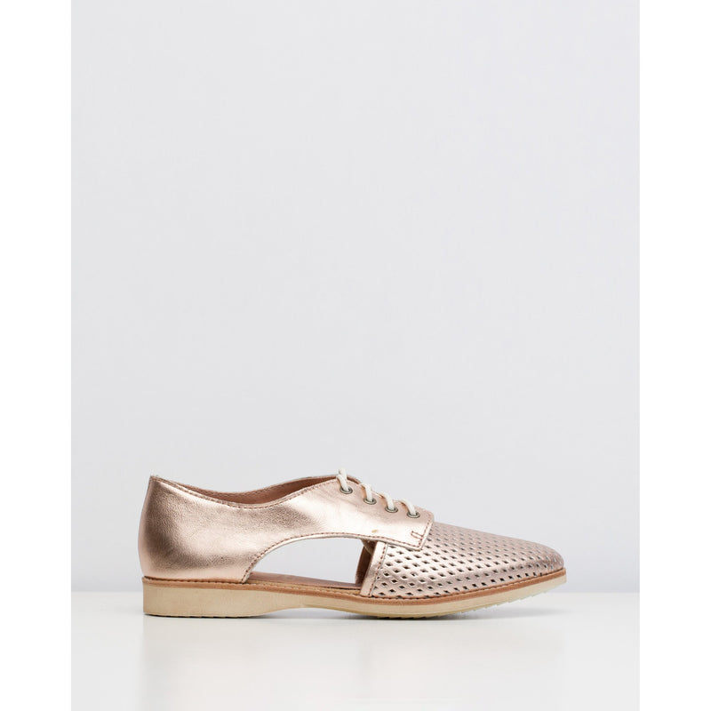 Rollie Sidecut Punch Rose Gold Leather Shoe