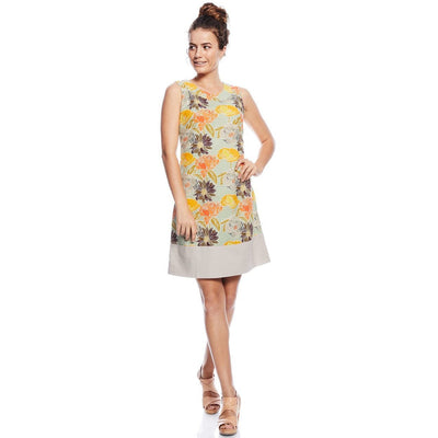 MahaShe Sixties Tunic dress in Meadow print