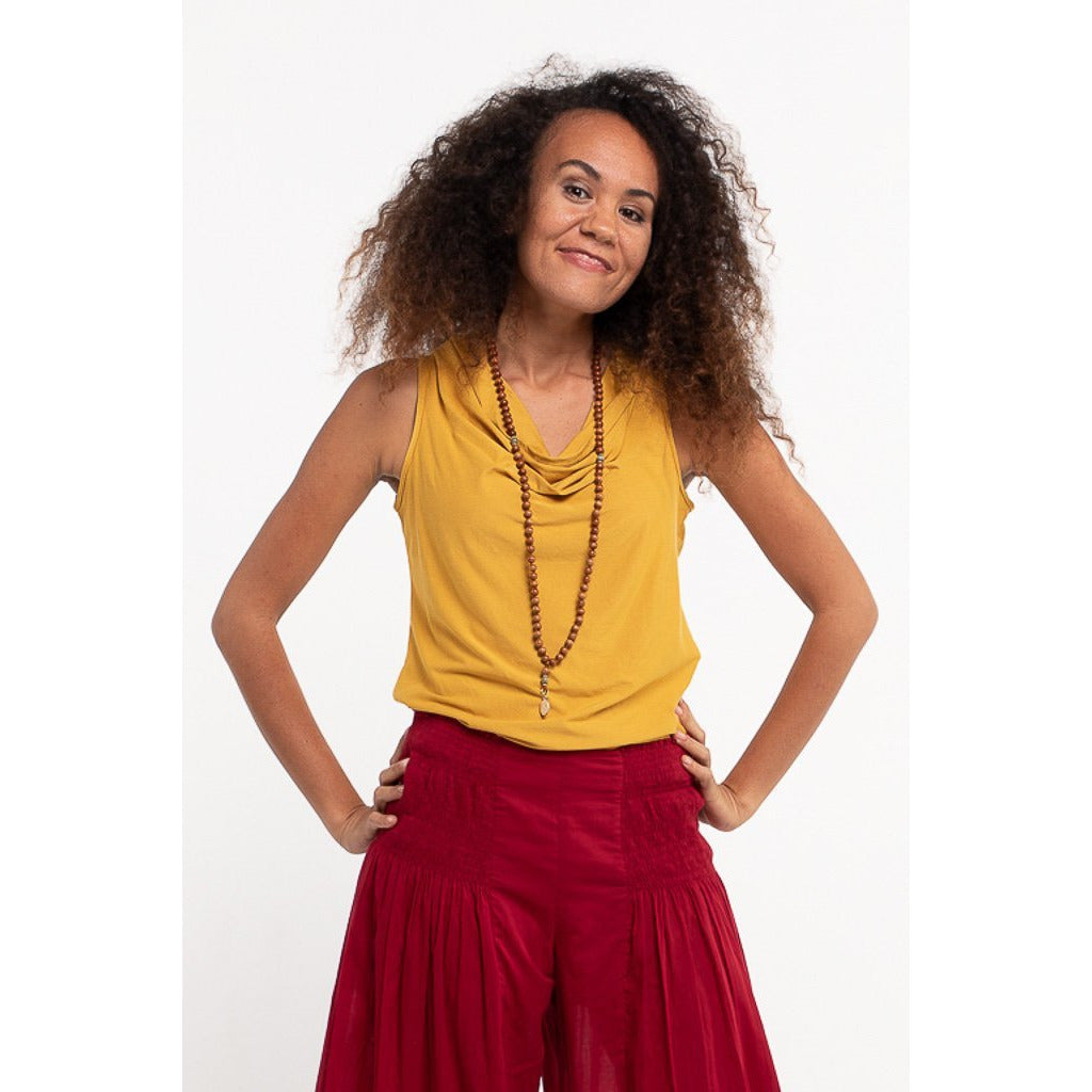 Soulsong Cowl Neck Top in Tumeric