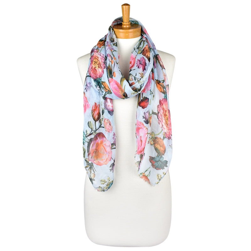 Taylor Hill Baby Blue Peony Garden scarf.