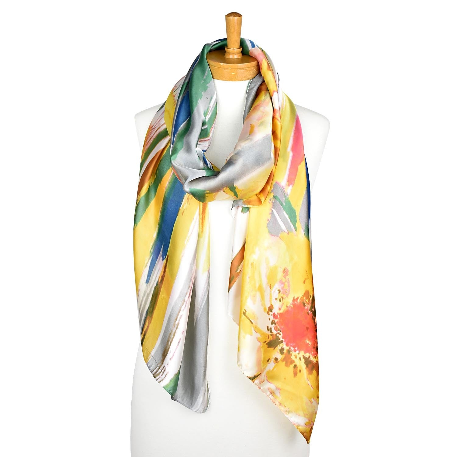 Taylor Hill Scarves Orange Green Multi Colour Scarf