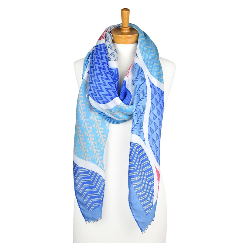 Taylor Hill Scarves Blue Abstract Nature Scarf