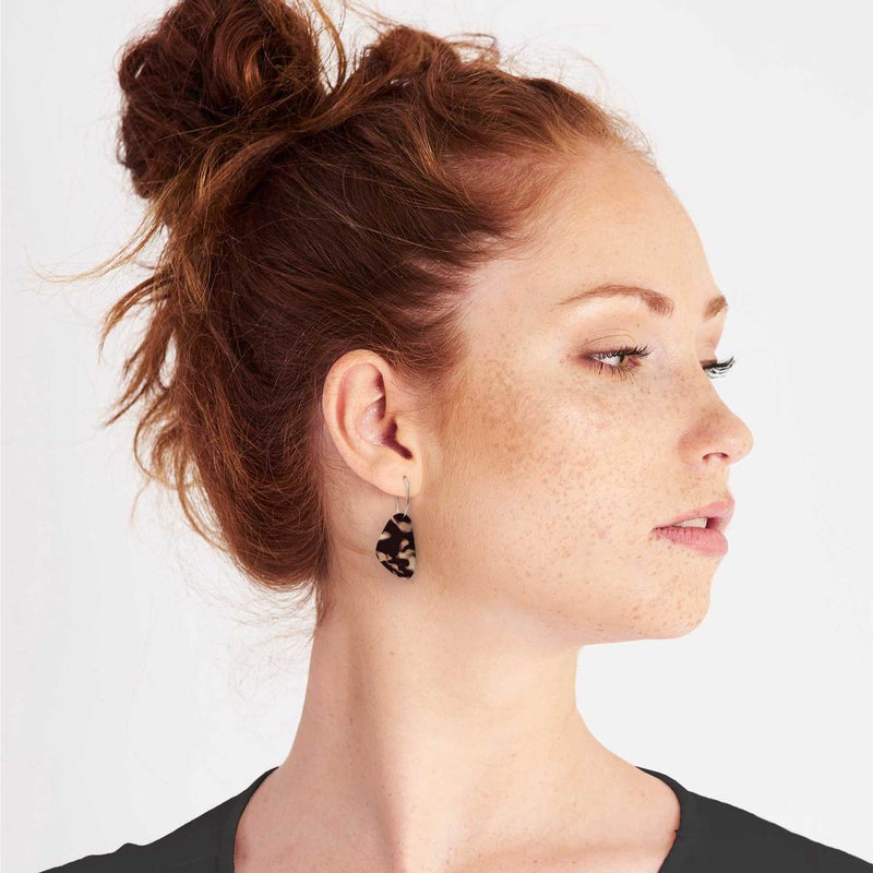 Moe Moe Design Tortoise Shell Pippi Hoop Earrings