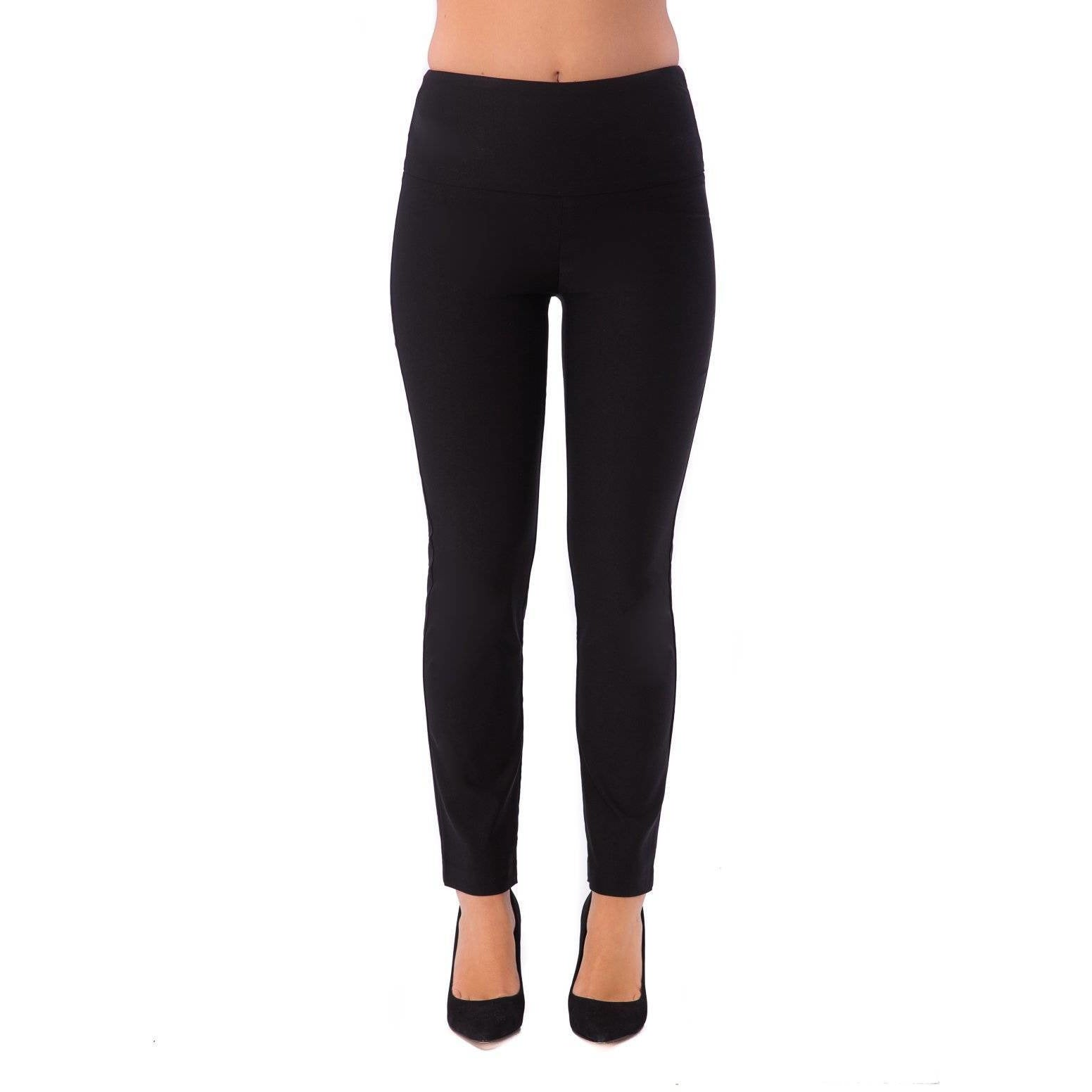 Up! Pant Ponte Illusion Pant in Black