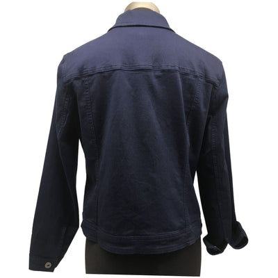 Cafe Latte Navy Denim Stretch Jacket